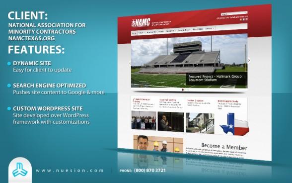 Wordpress Non-Profit - NAMC Texas Web Development