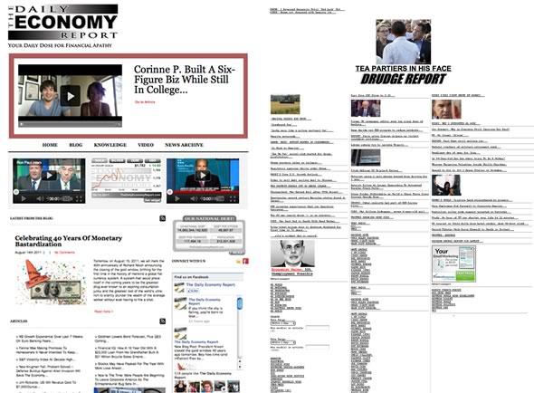The Daily Economy Report Vs Drudge Report