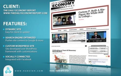 The Daily Economy Report - Custom WordPress Design